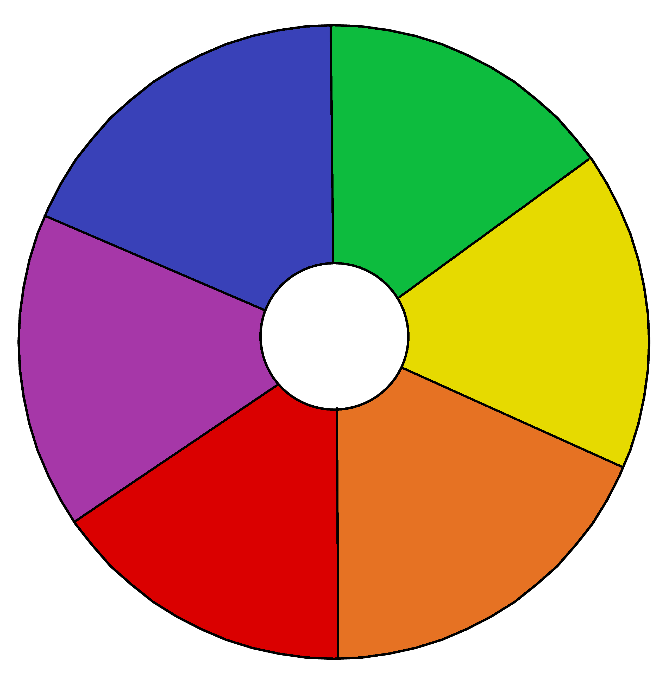 Primary And Secondary Color Wheel Template Pdf