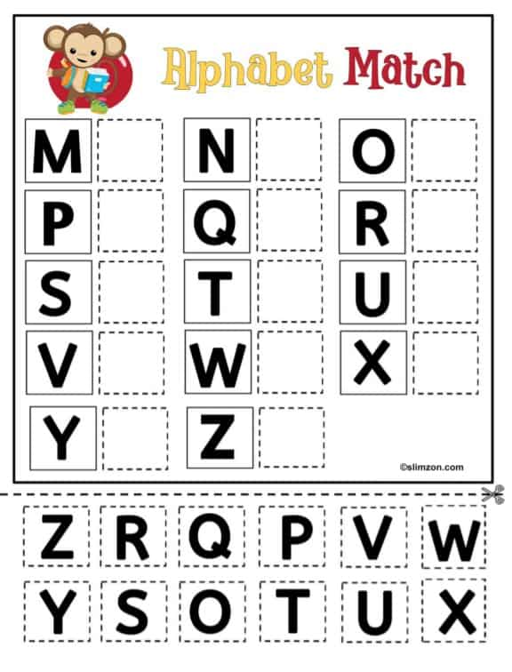 Free Printable ABC Matching Game For Preschool And Early Childhood -