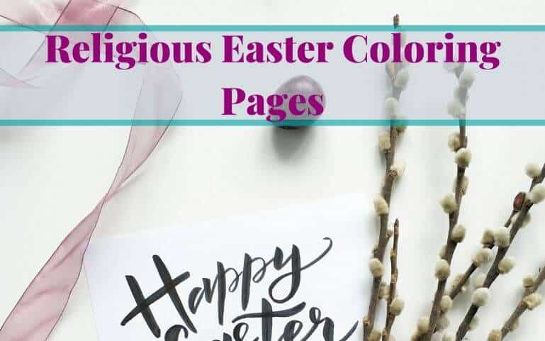 Religious Easter Coloring Pages For Children Free Printable
