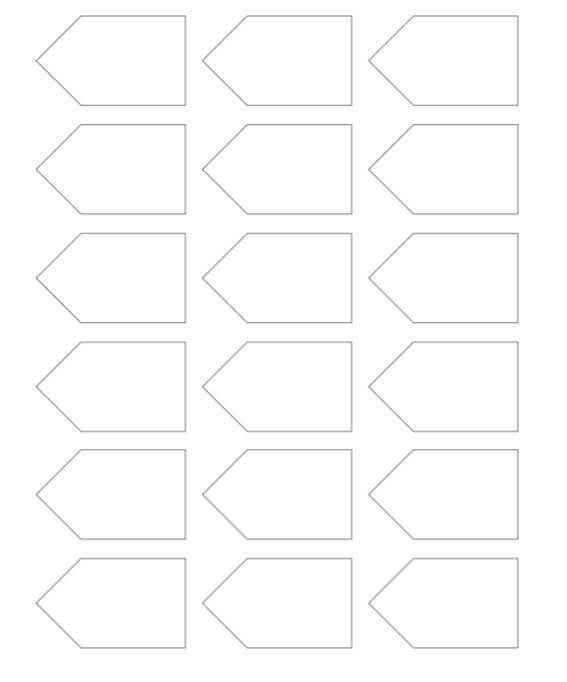 Blank Gift Tag Template Free Printable Stencil