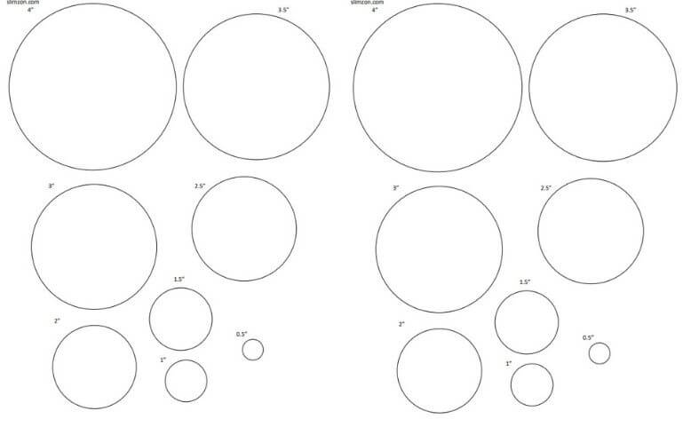 Collage sheet template .Printable template Circles template Instant download Commercial use 18mm Digital template