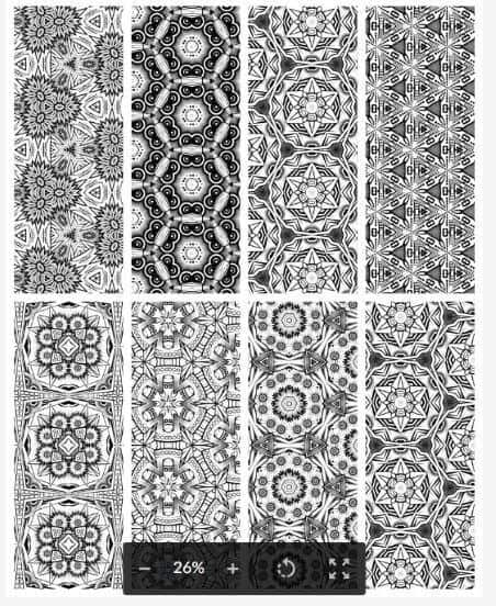 25 Free Printable Adult Coloring Bookmarks -